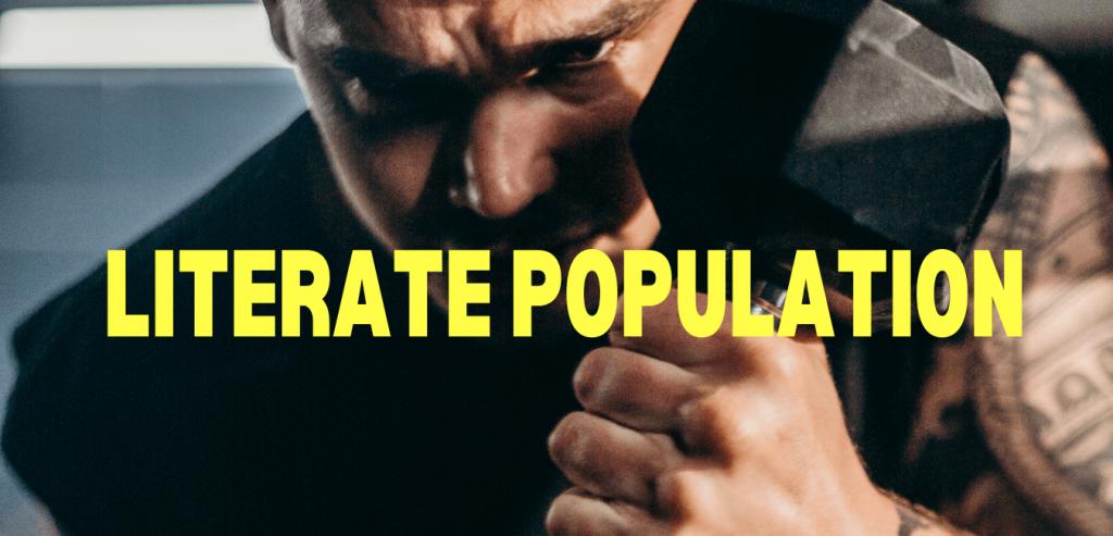 Literate population